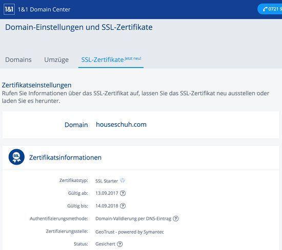 HTTPS für eigene Webseite einrichten, für grünes Schloss-Symbol im ...