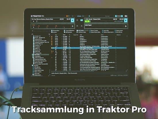 Tracksammlung in Traktor Pro DJ-Software