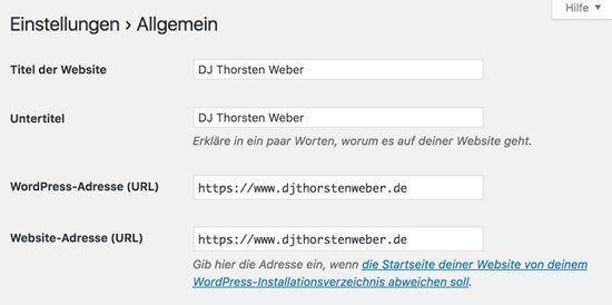 Wordpress Webseite auf HTTPS umstellen