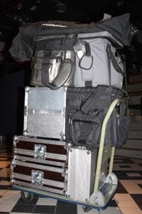 Werkstattwagen mit DJ-Equipment