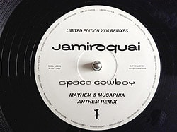 Jamiroquai - Space Cowboy, Vinyl Label