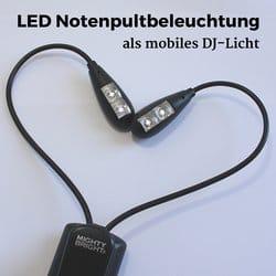 LED Notenpultbeleuchtung für flexibles Licht im DJ-Bereich