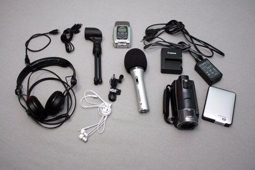 Kopfhörer Sennheiser HD 25 als Teil meines mobiles Podcast-Studios