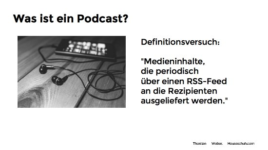 Definition Podcast, Vortrag Wordcamp Nürnberg 2016