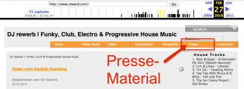 Verlinkte Presse-Informationen auf deiner DJ-Website