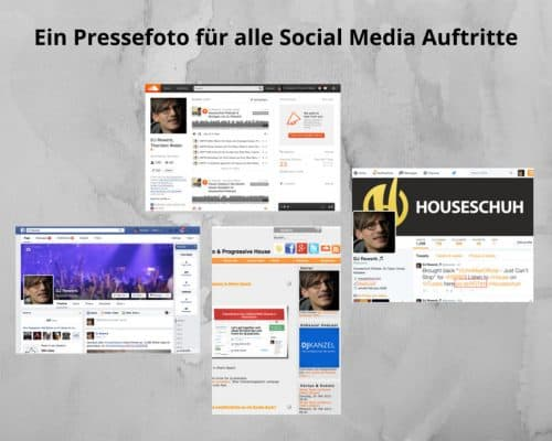 Verwende einheitliches Pressefoto für alle Social-Media-Seiten