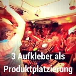 Produktplatzierung, 3 Aufkleber auf CDJ mit deinem DJ-Namen