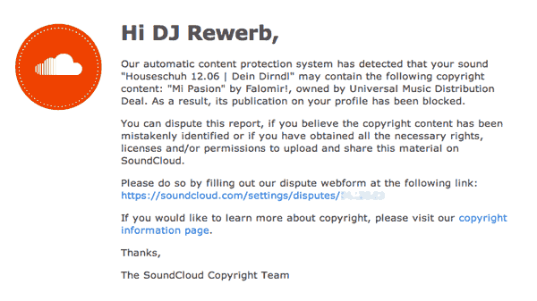 Soundcloud, Copyright