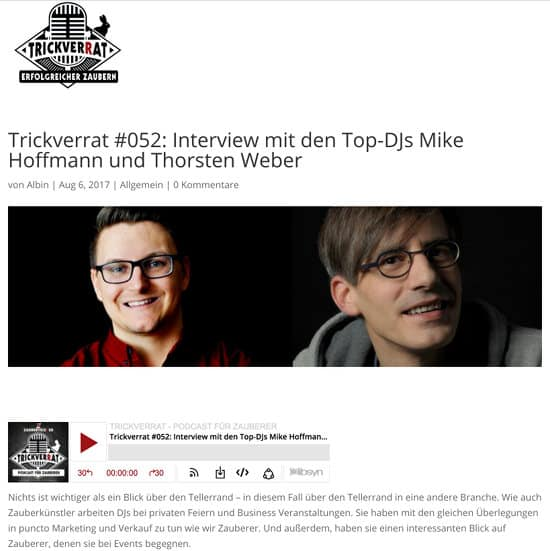 Trickverrat Podcast Interview