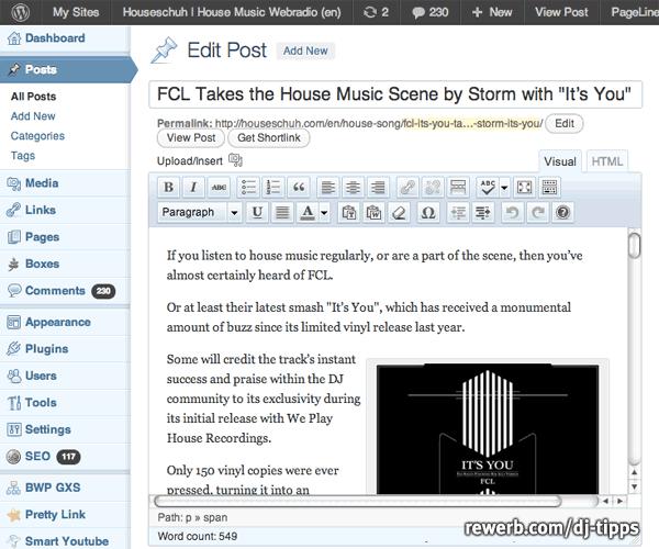 Artikel editieren in WordPress